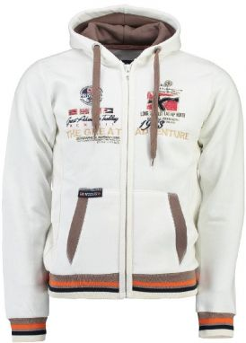 Geographical Norway Pánska mikina Grenouille MEN 100_Off white