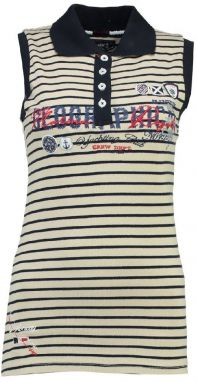 Geographical Norway Dámsky polo top KAPILLON SS LADY 100 - 2600_Off white / Navy