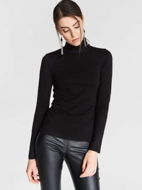 Blue Shadow Dámsky top Turtleneck sweatshirt_otulove_black