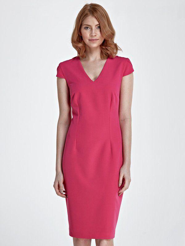 Nife Dámske šaty s85 fuchsia značky Nife - Lovely.sk 2b90dcbce4a