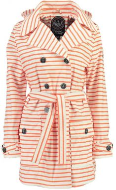 Geographical Norway Dámsky trenčkot craquante lady 075_Coral / White