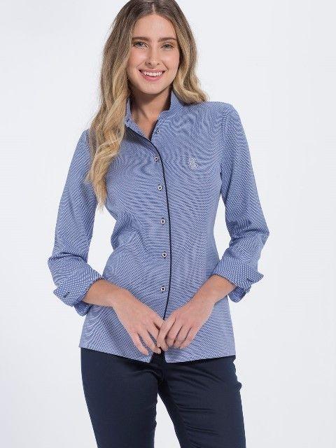 Jimmy Sanders Dámska košeľa 18S SHW4003 DARK BLUE značky Jimmy Sanders -  Lovely.sk 90be902bb7d