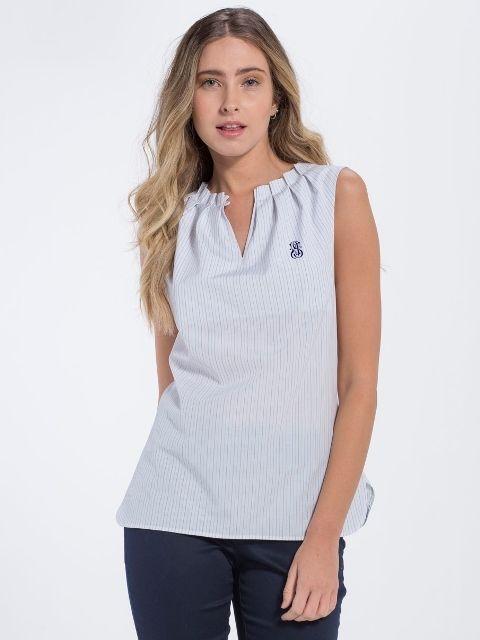 37344890601e Jimmy Sanders Dámska košeľa 18S SHW4007 BABY BLUE značky Jimmy ...