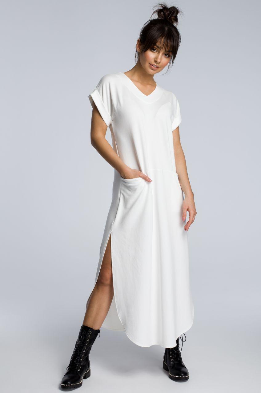890e4e5618df BeWear Dámske šaty b065 ecru značky BeWear - Lovely.sk
