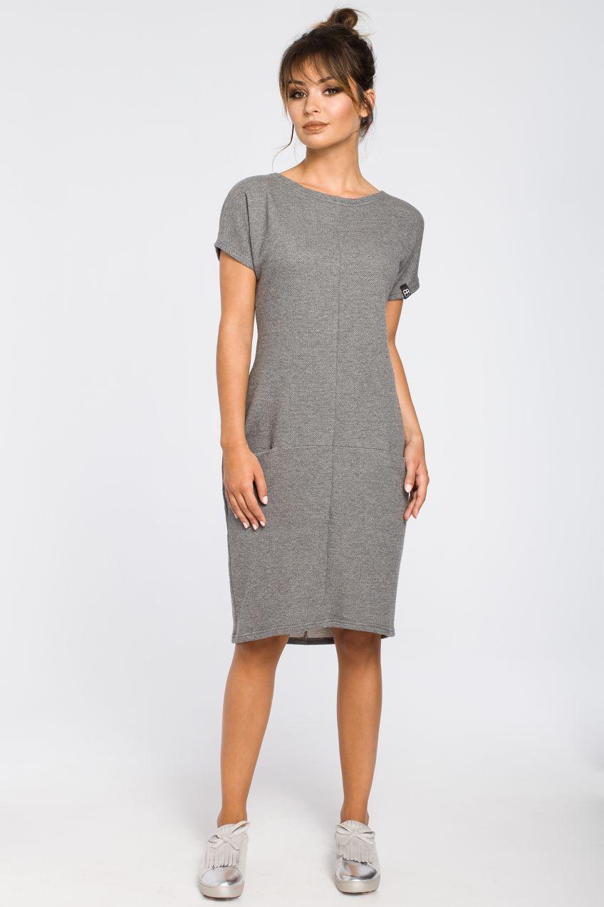 6cfafb9e1dfb BeWear Dámske šaty B050 grey značky BeWear - Lovely.sk