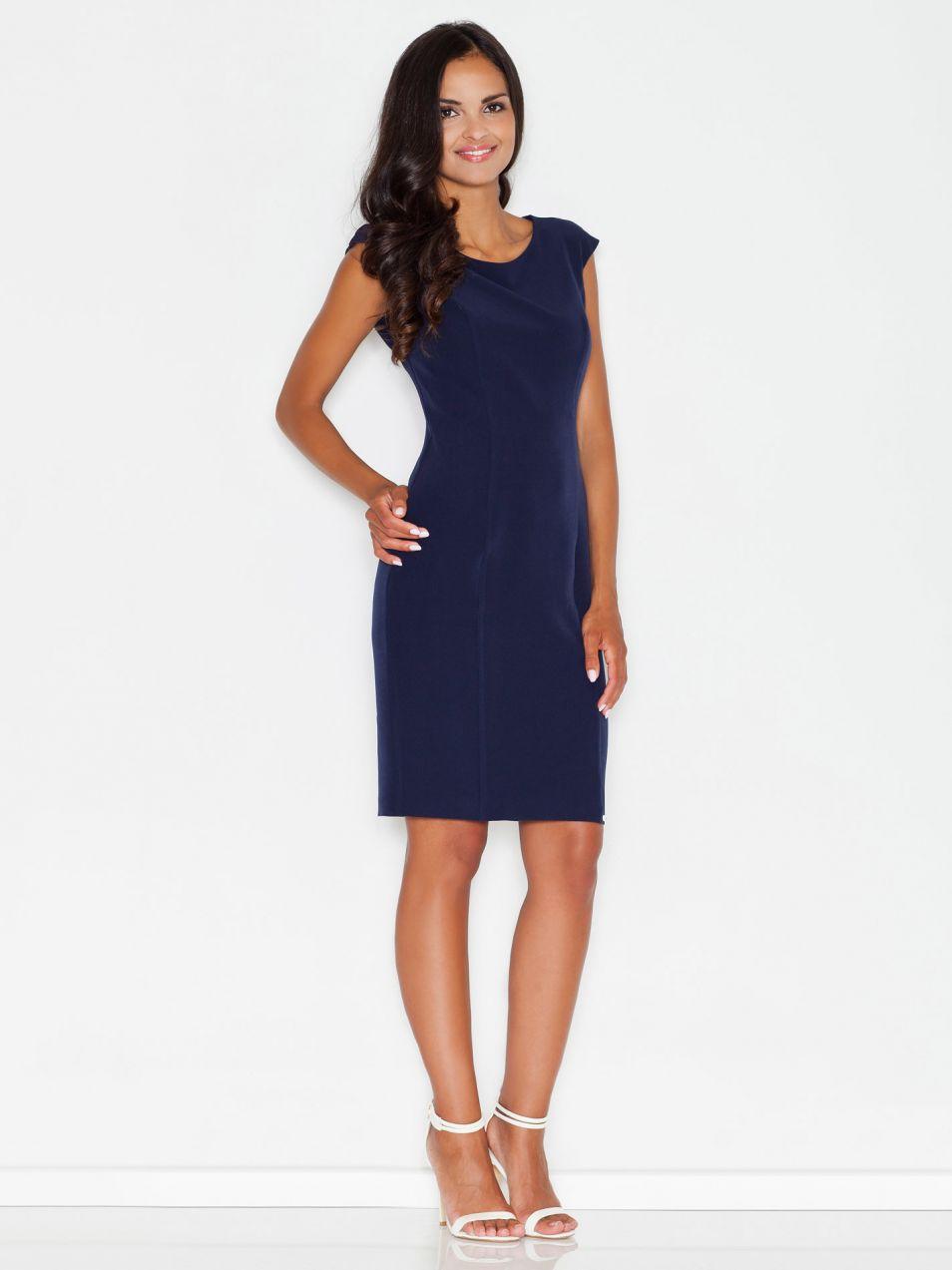 Figl Dámske modré šaty značky Figl - Lovely.sk 4d78863f598