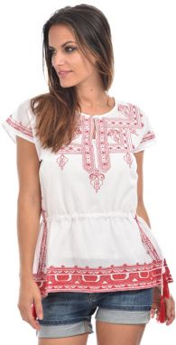 Ada Gatti Dámsky top AG-KH102 WHITE-RED