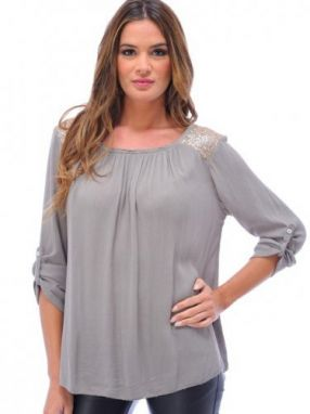 Never Dámsky top bueno aires_taupe