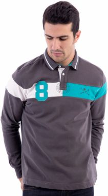Polo Club Captain Horse Academy Pánske polo tričko 14915 GRIS oscuro / DARK GRAY