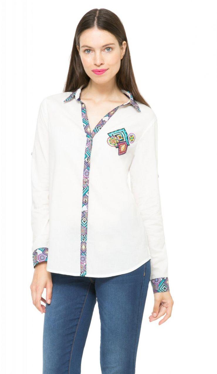 63d1e24e0726 Desigual Dámska košeľa 855912 bílá značky Desigual - Lovely.sk