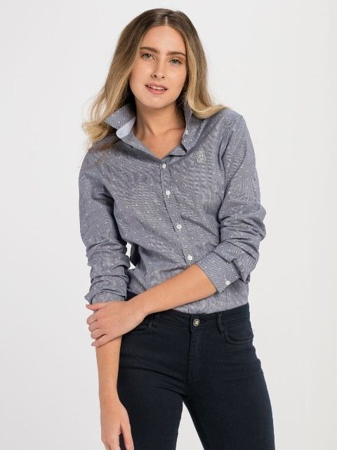 Jimmy Sanders Dámska košeľa 18S SHW4004 DARK BLUE značky Jimmy Sanders -  Lovely.sk f635f2b253c