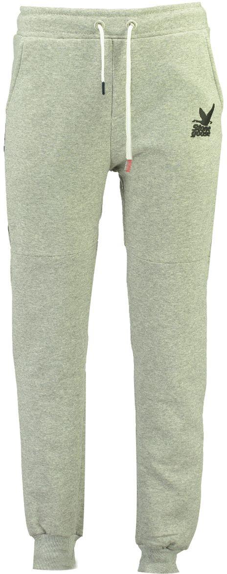 Stone Goose Pánske joggingové tepláky MONTCLEAN MEN SG 100 Blendedgrey 95800856a86