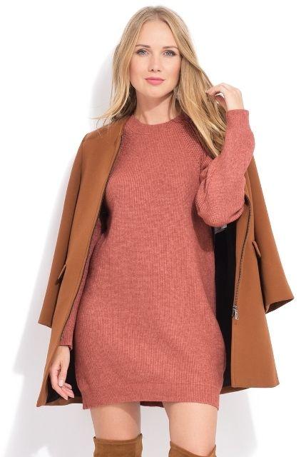 70567521defb LA FILLE DU COUTURIER Dámske šaty ANETTE K1052 ROUILLY značky LA ...