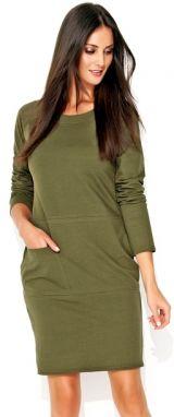d8bffce48f VENCA Pletené šaty s odnímateľným límcom khaki S značky VENCA ...