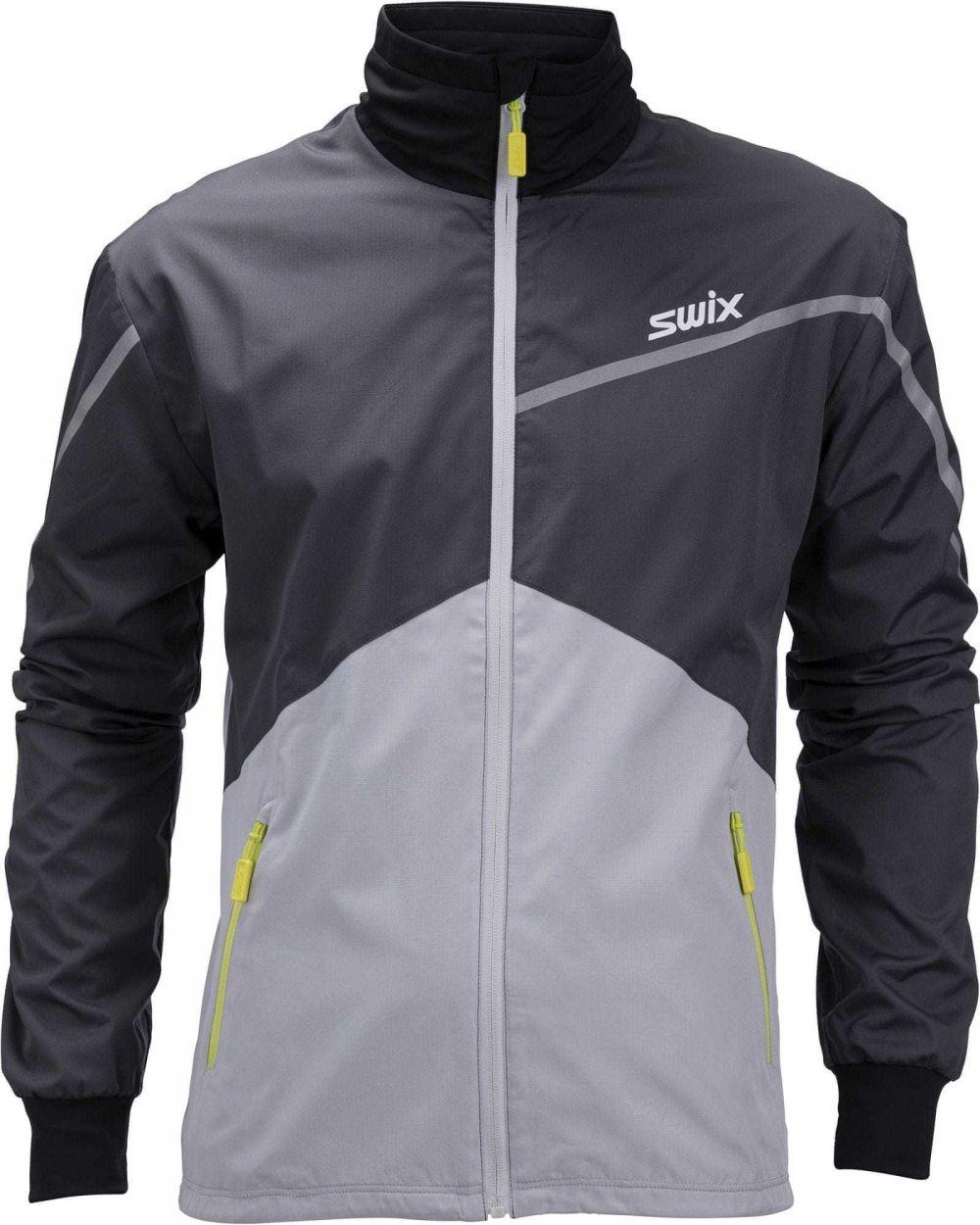 bd8f10a2337d Swix Pánska športová bunda čierna   sivá značky Swix - Lovely.sk