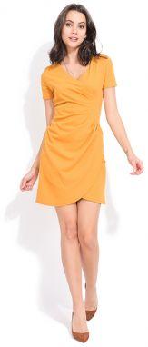 Žlté áčkové šaty s 3 4 rukávmi Miestni Kla značky miestni - Lovely.sk 4600d9ed758