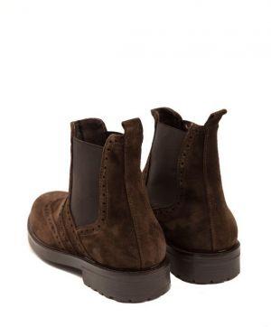 f988231039 Trussardi Collection Pánske členkové topánky RL-10 CARAGLIO Moro   Brown  galéria