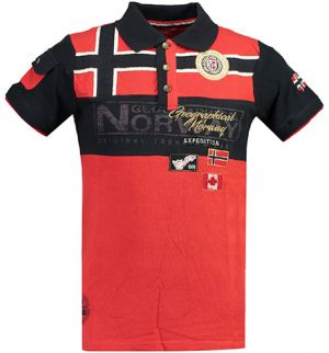 5786372f726f Geographical Norway Pánske polo tričko KEVIAN SS MEN 415 Red   Navy ...