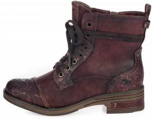 3ce0d7d6ea5d Vínové lesklé členkové topánky na platforme Tamaris značky Tamaris ...