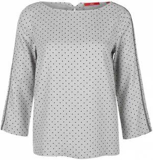 d592cdc67f3a Krémovo-sivá dlhá dámska kockovaná košeľa s.Oliver značky s.Oliver ...