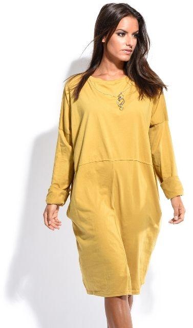 Charlotte et Louis Dámske šaty ROBE SALOME 7132 moutarde značky ... 6b1e030aa92