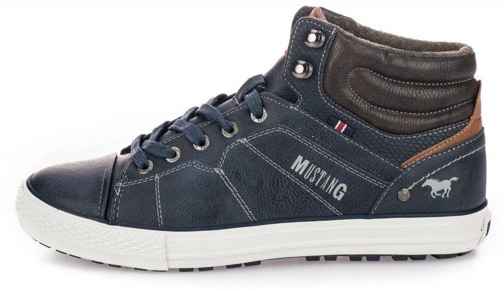 0d203f3c2b147 Mustang Pánska členková obuv 1258889_tmavo modrá značky Mustang - Lovely.sk