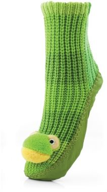 Attractive Pletené ponožky CHAUSSONS CHAUSSETTES 23 WLW002 FROG GREEN