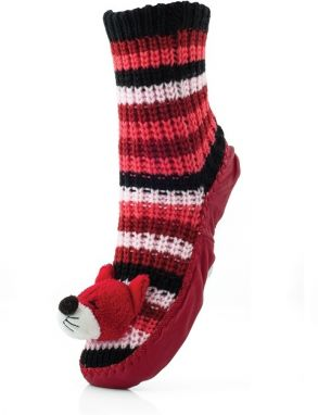 Attractive Pletené ponožky CHAUSSONS CHAUSSETTES 23 WLW008 FOX RED