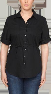 4b0f3cba5f02 Čierne dámske košele s krátkym rukávom - Lovely.sk