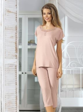 Natural fashion Dámske pyžamo JUDY POWDER PINK Pyjamas