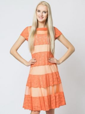 Margo Collecttion Dámske šaty DRESS 317B ORANGE