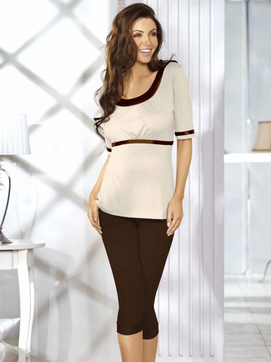 c9f0dfd04 Natural fashion Dámske pyžamo Katia-CHOCOLATE-BEIGE značky Natural ...