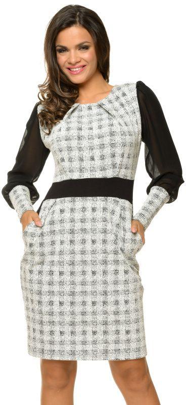 46abea448e2d Natalee Dámske šaty RN23 black   white značky Natalee - Lovely.sk