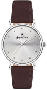 Gaspard Sartre Dámske hodinky G3600-10A La Variée Steel White Zirkónia Ladies Leather Brown