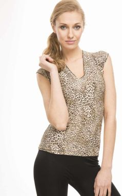 Violana Dámsky top, MONIKA LEOPARD PRINT BROWN