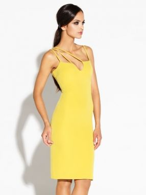 Dursi Dámske šaty DRESS 055 YELLOW LEMON