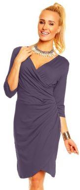 Lental Dámske šaty DRESS CARLA 3-4 Eggplant