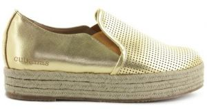 Cubanas Dámké slip-on na platforme KITTY410M_LIGHT GOLD