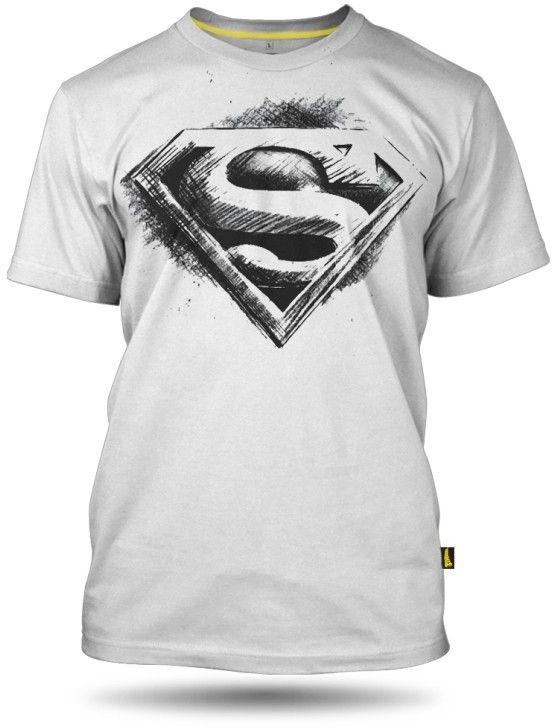 5e71ce19342a DC Superman Comics Pánske tričko Mens T-shirt Superman pencil logo ...