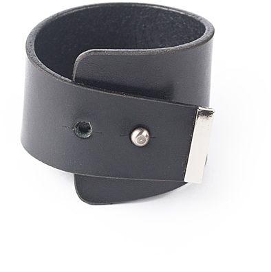 4f78365bc LuAna Široký kožený náramok 267 BRACELET BLACK SILVER značky LuAna ...