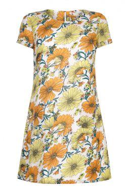 Yumi Dámske šaty YM413A YELLOW 27f295b4f85