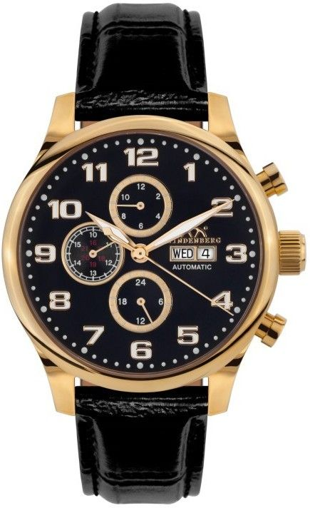 0c2eeb871c9 HINDENBERG Pánske automatické hodinky 210-H Excellence gold schwarz ...