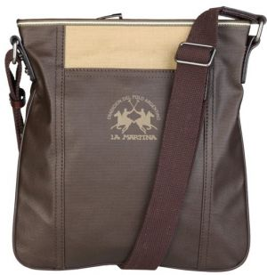 La Martina Dámska crossbody taška L23PW0290232_026_DKBROWN