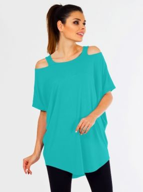 Lental Dámsky top TUNIC KASIA 1-4 TURQUOISE