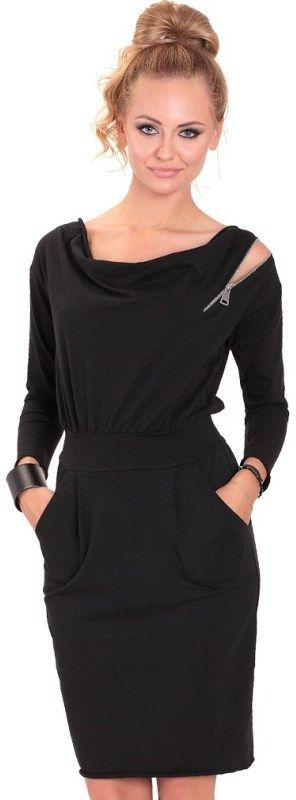 a7f0e309dfb7 Eidos Dámske šaty ROBE 83 CLASSIC ZIPP BLACK značky Eidos - Lovely.sk