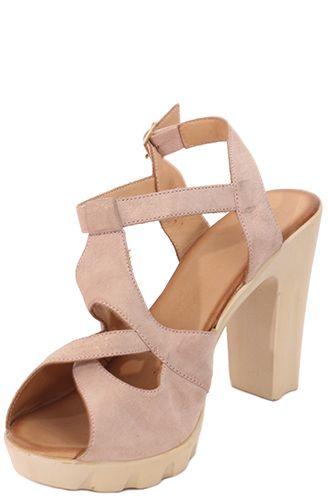 bf506a1f756b Parione Dámske kožené sandále na podpätku PR062 značky Parione ...