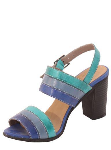 e9c91fcdc2f2 Parione Dámske kožené sandále na podpätku PR056 značky Parione ...