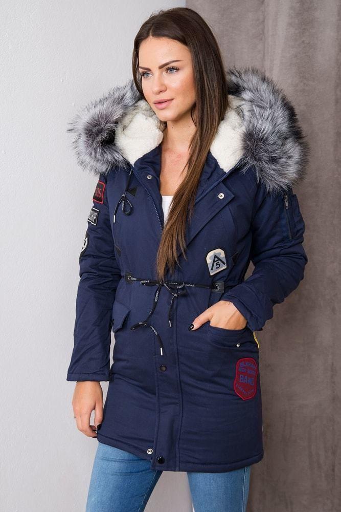 fd4e8542ff Dámska zimná bunda s kapucňou Kesi ks-bu1608tmo - Lovely.sk