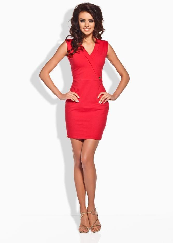 0c6a4b9a35bb Elegantné dámske mini šaty Lemoniade lm-l134re - Lovely.sk