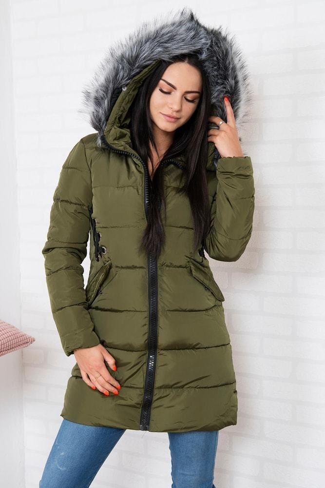 704b6a35afc8 Zimná dámska bunda s kapucňou Kesi ks-bu2662kh - Lovely.sk